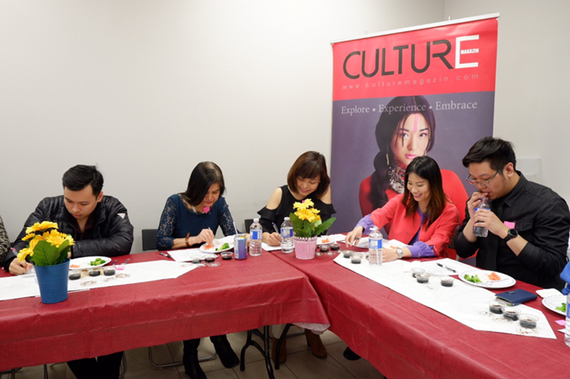 Members of the Evaluation Committee participating in the soy sauce tasting and voting session at the Culture Magazin's office in Canada (Source: culturemagazin.com)