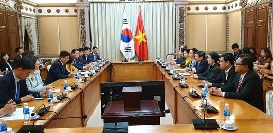 At the reception (Photo:hochiminhcity.gov.vn)