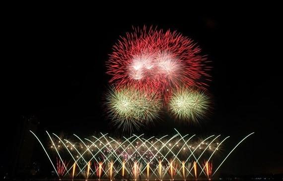 Firework performance by Finnish team