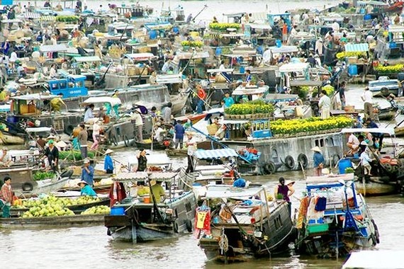 Cai Rang Floating Market (Photo: sggp)