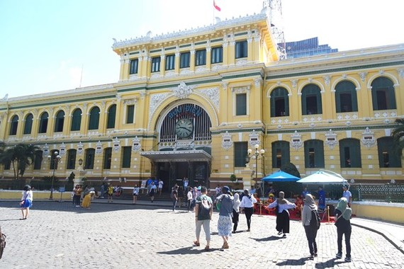 The Central Post Office, a popular tourist destination in HCM City (Photo: VNA)