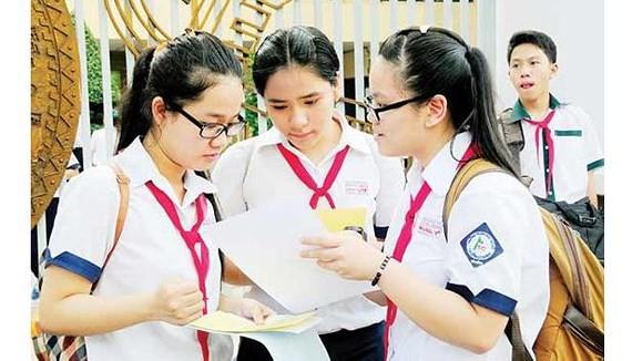Thí sinh tham gia kỳ thi tuyển sinh lớp 10 năm học 2018-2019
