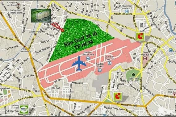 sơ đồ khu vực sân bay Tân Sơn Nhất