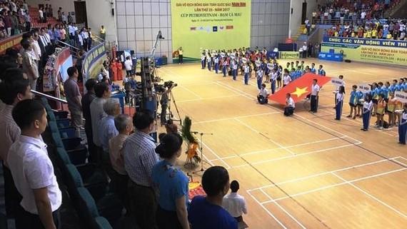 全國乒乓球錦標賽開幕儀式。(圖片來源:國榮)