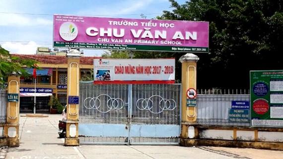 Trường Tiểu học Chu Văn An, TP Cao Lãnh, Đồng Tháp. Ảnh: TRÍ VĂN
