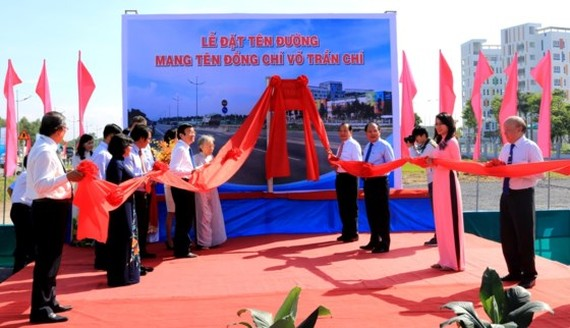 Leaders of departments and agencies of the city and Long An attend in the road- naming ceremony. (Photo:SGGP)
