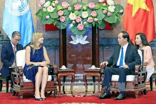 Vietnamese President receives Dutch Queen (Photo:VNA)