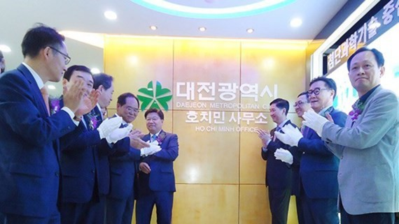 Representative office of Daejeon city is inaugurated in HCMC- Photo: cpvhcm