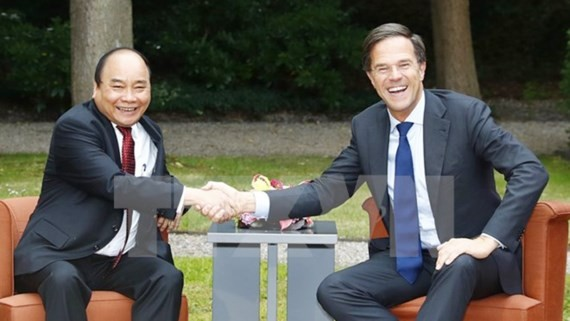 Vietnamese Prime Minister Nguyen Xuan Phuc and Dutch Prime Minister Mark Rutte. (Photo:VNA)