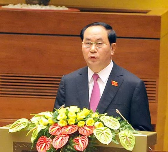 Vietnamese President Tran Dai Quang sends congratulatory message on India's Independence Day (Photo:SGGP)
