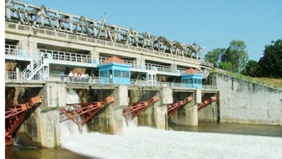 Dau Tieng irrigation reservoir begins water release at 7am on November 10.