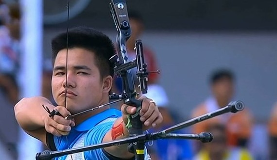 Chu Duc Anh at the Asian Archery Championships 2017