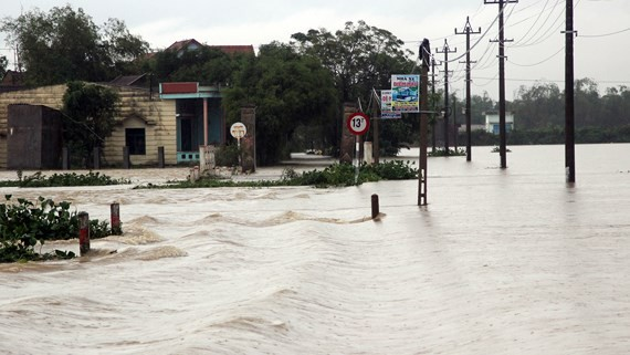 Central region suffers huge flooding due to downpour
