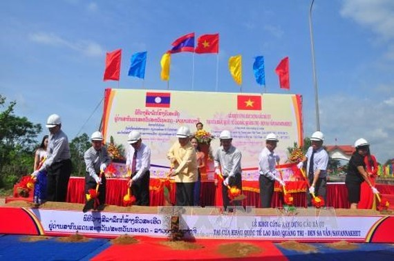 At the groundbreaking ceremony (Source: VNA)