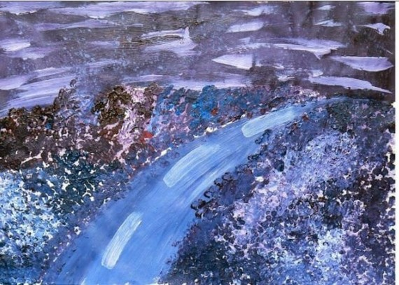 """The painting """"Violet"""""""
