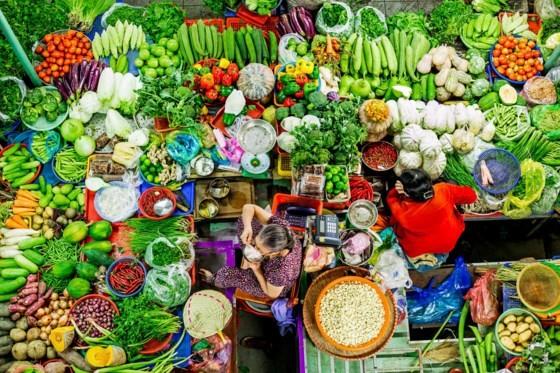 Third-prize-winning picture, Rau qua Viet (Vietnamese vegebtables) by Ho Dang Khoa