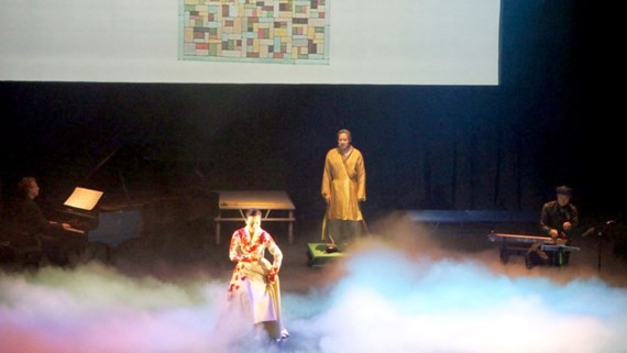 A scene in the play