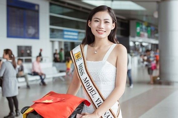 Quynh Nhu competes at Miss Model of the Word 2017