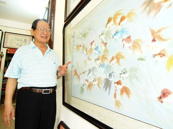 Chinese-Vietnamese painter Truong Han Minh