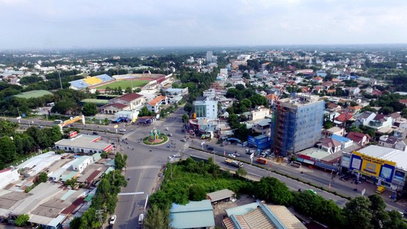 A view of Thu Dau Mot city of Binh Duong province (Photo: VNA)