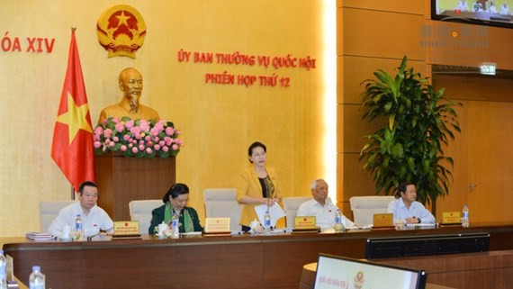 NA Chairwoman Nguyen Thi Kim Ngan speaks at the session (PHoto: SGGP)