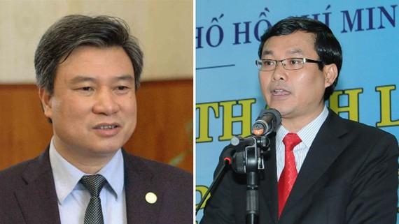 Hai thứ trưởng mới: Ông Nguyễn Hữu Độ và ông Nguyễn Văn Phúc (từ trái qua)
