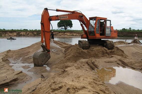 Chống khai thác trái phép, cát xây dựng bị làm giá