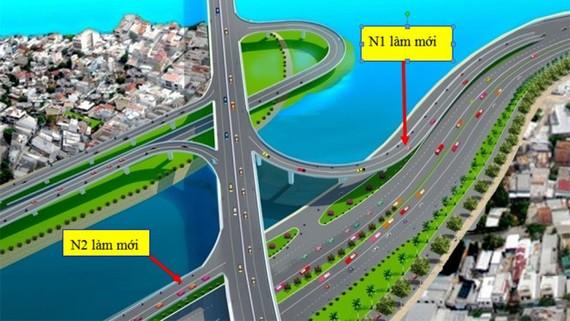 Sắp thông xe hai nhánh mới cầu Nguyễn Văn Cừ