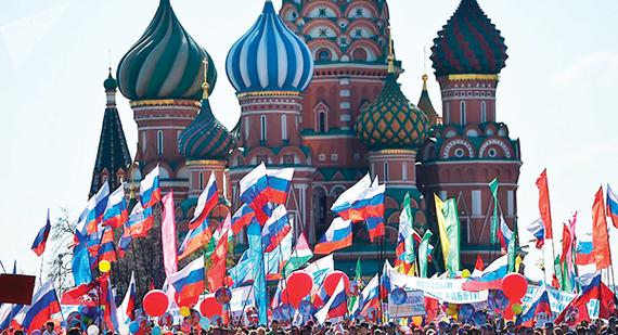 Mít tinh chào mừng ngày Quốc tế Lao động 1-5 tại Quảng trường Đỏ (Nga)