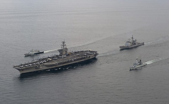 Tàu Hải quân của Malaysia tuần tra trên biển. (Nguồn: Wikipedia)