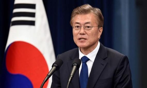 Tổng thống Hàn Quốc Moon Jae-In. Ảnh: Reuters
