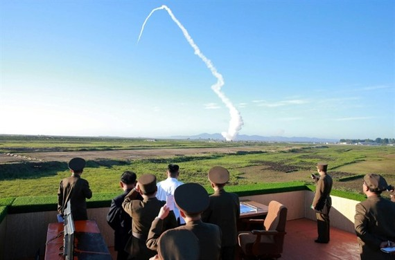 North Korea on Monday test-fired a ballistic missile. — AFP/VNA