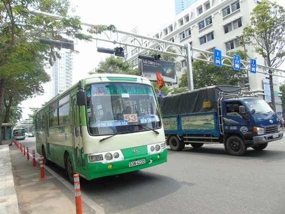 HCM City plans to put over 1,000 new buses into service by 2020. – VNS Photo Anh Vu