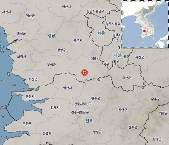 Two small quakes strike S. Korea