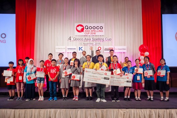 At the Qooco Asia Spelling Cup 2016