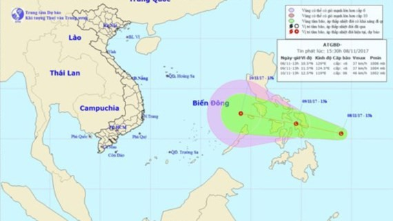Low-pressure system heads towards East Sea