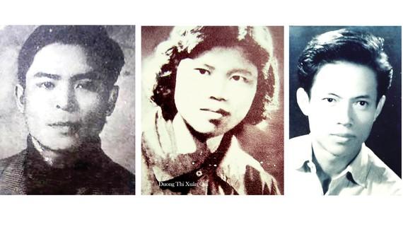 Từ trái qua: Nhà thơ Nguyễn Mỹ, Nhà văn Dương Thị Xuân Quý, Nhà văn Chu Cẩm Phong