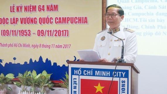 Ông Im Heng, Tổng Lãnh sự Vương quốc Campuchia tại TPHCM. Ảnh: VOH