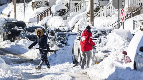 Tuyết dày đặc ở thành phố Boston (Mỹ) trong mùa đông lạnh kỷ lục