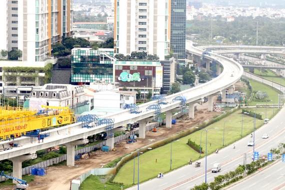 Tuyến metro số 1 TPHCM được xây dựng bằng nguồn tài trợ ODA.