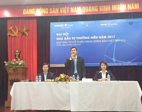 Baoviet Fund gia tăng tài sản NĐT
