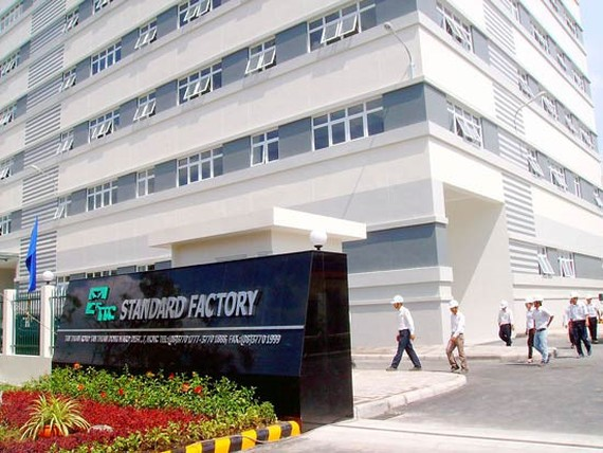 Công trình nhà xưởng cao tầng trong Khu chế xuất Tân Thuận (quận 7 TPHCM)