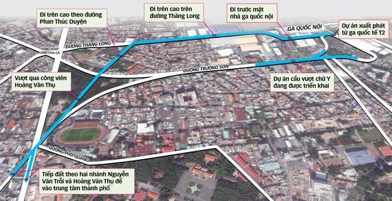 Dự án đường trên cao vào sân bay Tân Sơn Nhất (TP.HCM)