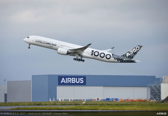 A350-1000 hoàn thành chuyến bay đường dài dầu tiên