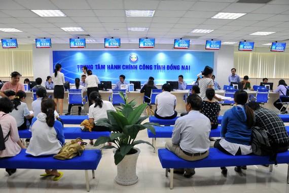 Một góc Trung tâm hành chính công Đồng Nai vừa được đưa vào hoạt động - Ảnh: A Lộc