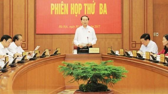 Chủ tịch nước Trần Đại Quang, Trưởng ban Chỉ đạo Cải cách tư pháp Trung ương chủ trì phiên họp.