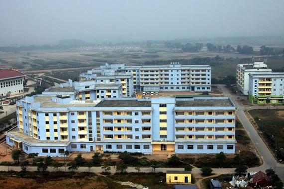 Khu nhà ở cho công nhân tại Kim Chung, huyện Đông Anh đang được xây dựng.