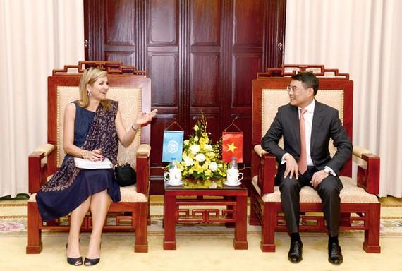 Thống đốc NHNN tiếp Hoàng hậu Hà Lan Máxima