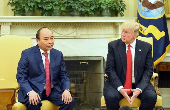 Thủ tướng Nguyễn Xuân Phúc và Tổng thống Hoa Kỳ Donald Trump.