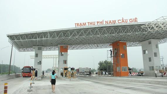 Trạm thu phí Nam Cầu Giẽ thuộc dự án Dự án BOT tuyến tránh TP. Phủ Lý mà hai doanh nghiệp Nhật Bản dự định mua lại 20% cổ phần